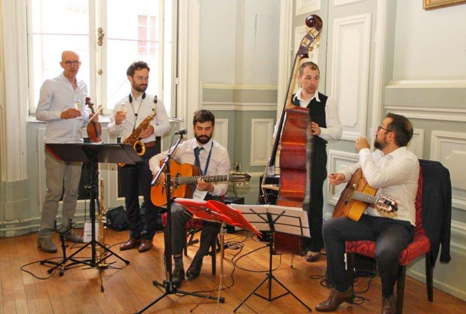 groupe de jazz manouche LYON évènement à la CCI LYON