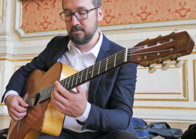 Grégory Aubert guitariste jazz manouche cocktail mariage